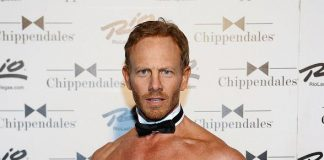 Ian Ziering on stage at in Chippendales Las Vegas