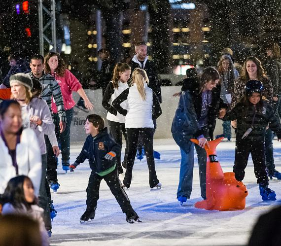 """Guests at """"Ice Out Cancer Over Vegas"""" at The Ice Rink"""