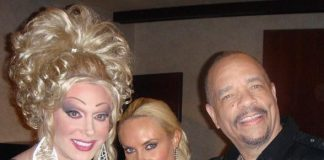 Ice-T (R) and Coco with Frank Marino (L)