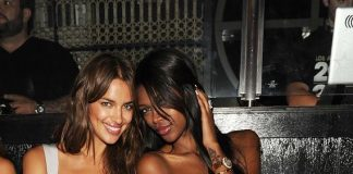 Irina Shayk and Jessica White at LAVO