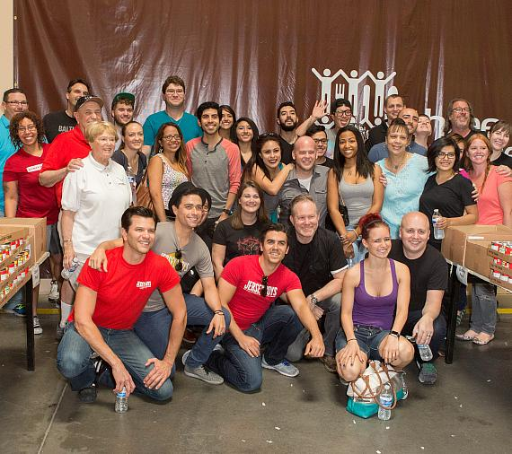 Jersey Boys and Three Square Volunteers