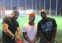 Trey Songz, Odell Beckham and Ja Rule spotted at Topgolf Las Vegas