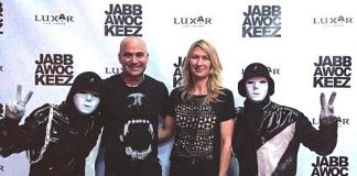 Andre Agassi and Steffi Graf Attend Jabbawockeez Show at Luxor Hotel and Casino in Las Vegas