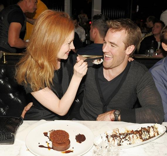 James Van Der Beek and wife dine at Sugar Factory