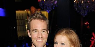 James Van Der Beek and wife Kimberly Brook at inside Chateau Nightclub & Gardens