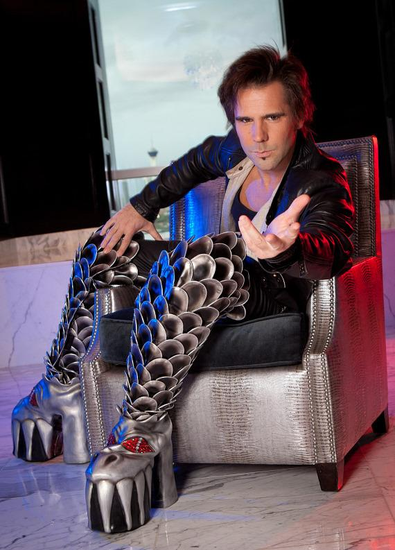 Jan Rouven, Star of ILLUSIONS, Wears the Official KISS Boots