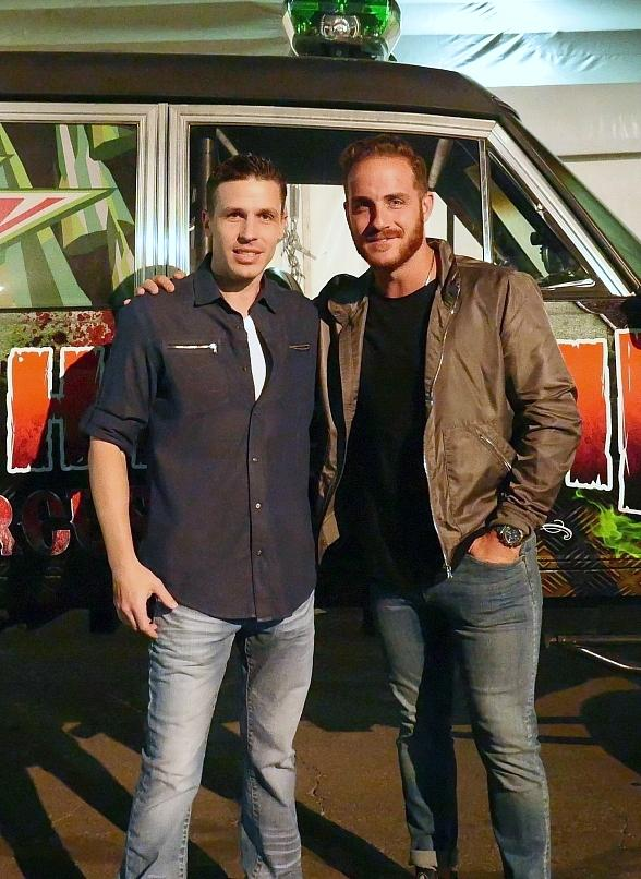 """Vinny Ventiera of ABC's """"The Bachelorette"""" visits Fright Dome at Circus Circus in Las Vegas"""