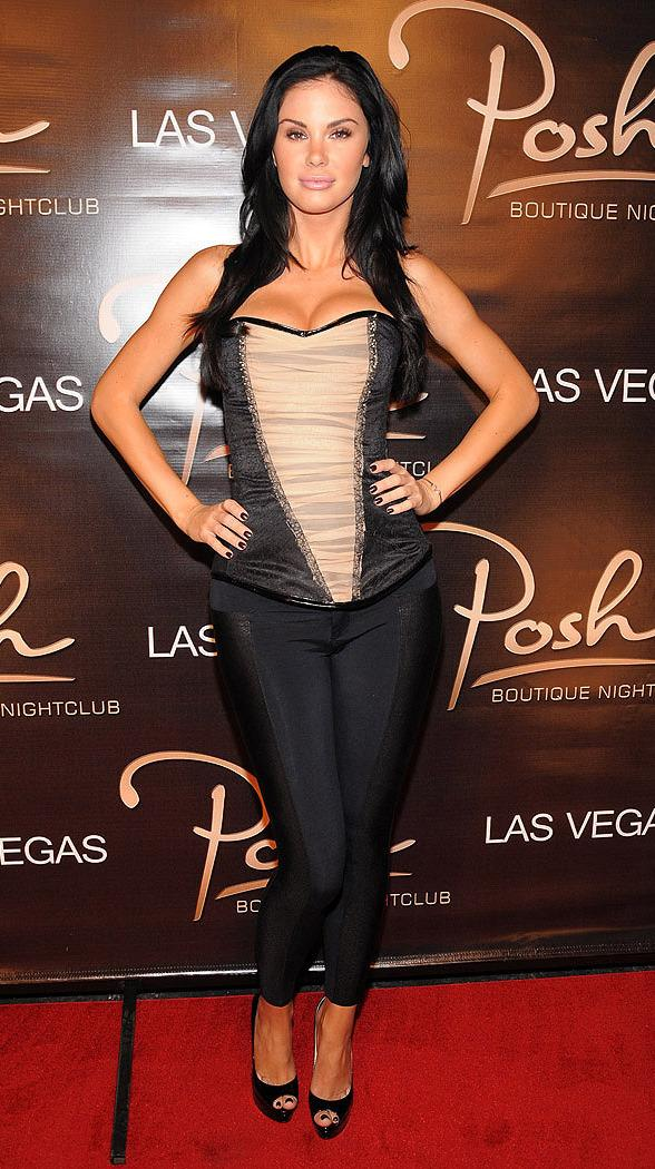 Jayde Nicole at her VIP booth inside Posh Boutique Nightclub