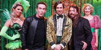 """Survivor"" Host Jeff Probst and Foo Fighters Frontman Dave Grohl Attend ABSINTHE at Caesars Palace Las Vegas"