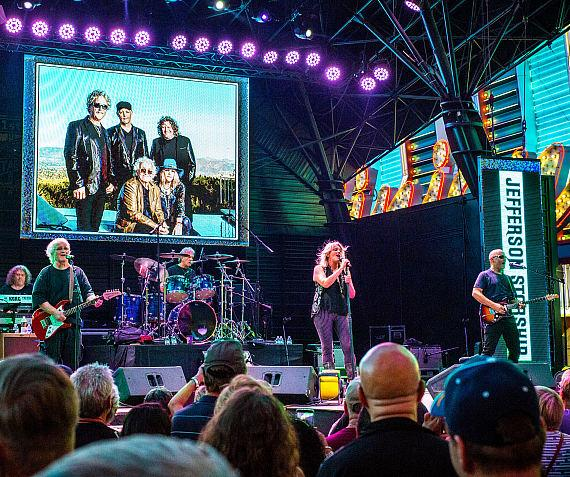 Jefferson Starship takes over Fremont Street Experience during Downtown Rocks