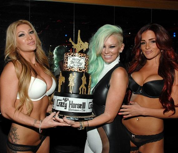 Jenna Jameson Celebrates Birthday at Crazy Horse III in Las Vegas
