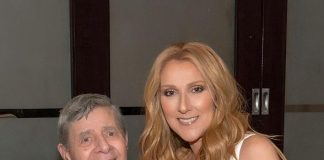 """Comedy Legend Jerry Lewis visits """"Celine"""" at at The Colosseum at Caesars Palace"""