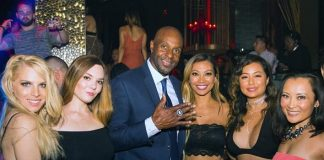 Retired Football Star Jerry Rice Spotted at TAO Nightclub at The Venetian Las Vegas