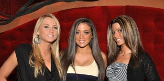 Jersey Shore's Sammi Sweetheart and friends at Zumanity