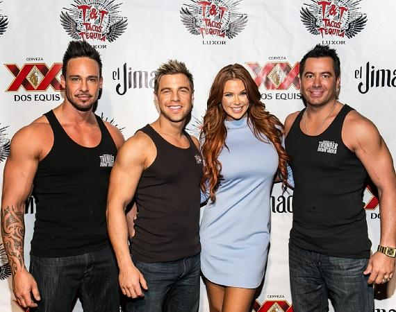 International Model Jessa Hinton Spotted at Tacos and Tequila Inside Luxor Hotel and Casino in Las Vegas