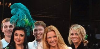 Jessa Hinton with cast of Absinthe