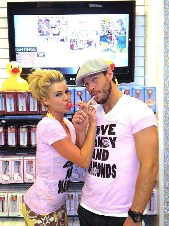 esse Kovacs and girlfriend, Summer Albertsen, in Sugar Factory apparel and enjoying Couture Pops
