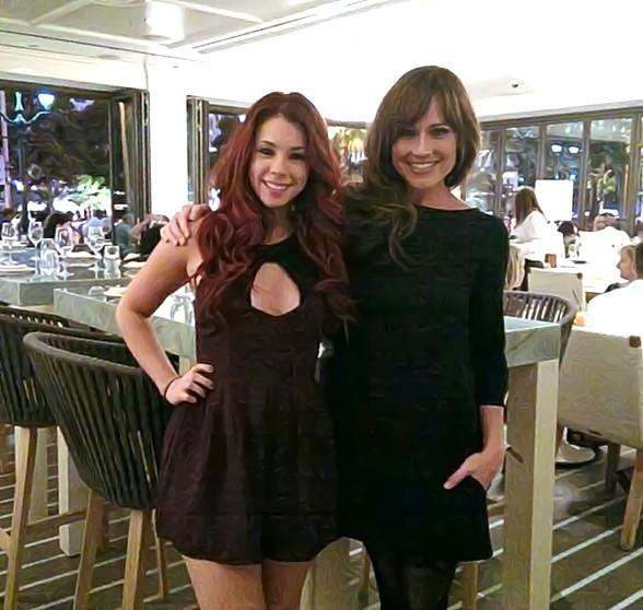 "Jillian Rose Reed and Nikki DeLoach of ""Awkward"" spotted at HEXX kitchen │ bar │ chocolate at Paris Las Vegas"