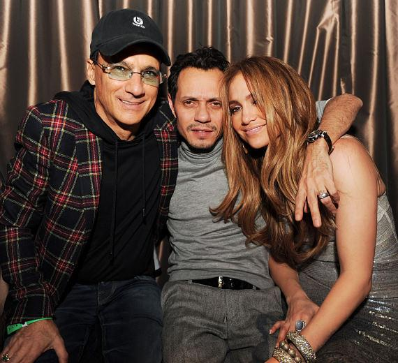 Jimmy Iovine, Marc Anthony and Jennifer Lopez