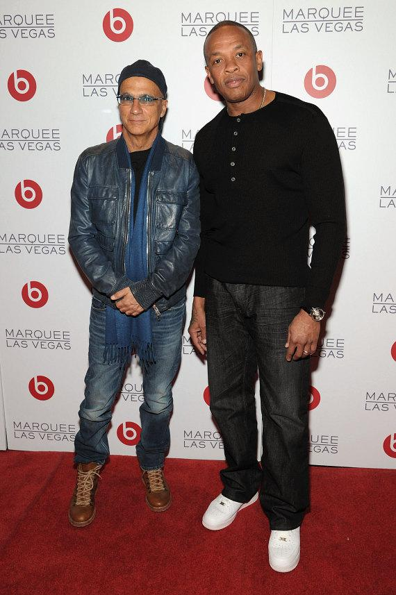 Jimmy Iovine and Dr Dre at Beats by Dre