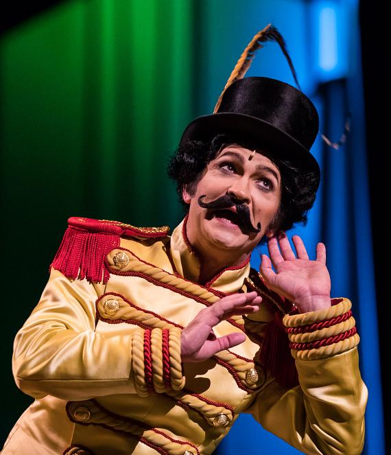 Jimmy Slonina plays the young ringmaster in the fifth annual One Night for One Drop,