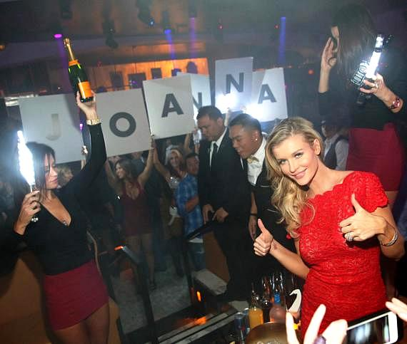 Joanna Krupa hosts pre-game party at Hyde Bellagio