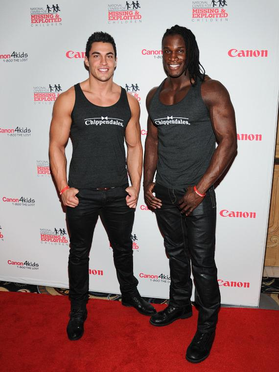 Jon Howes and Chaun Thomas of Chippendales