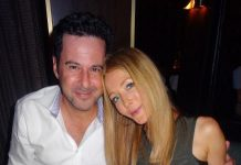 Hollywood Celebrity Couple, Jonathan Silverman and Jennifer Finnigan, celebrate at the D Casino Hotel Las Vegas