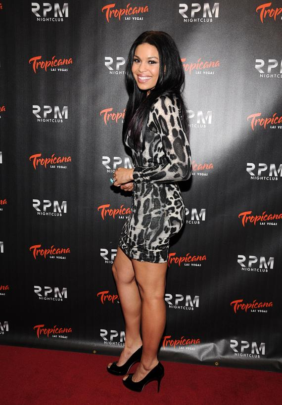 Jordin Sparks on red carpet at RPM Nightclub