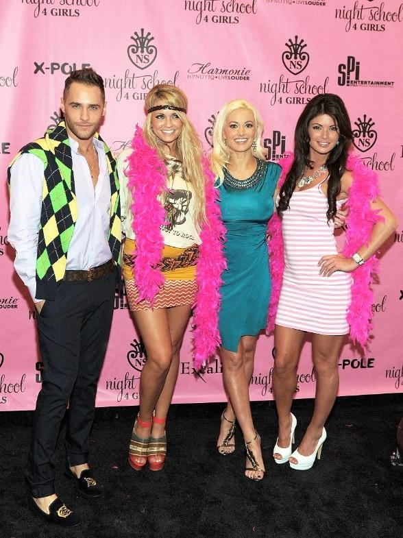 Josh Strickland, Angel Porrino, Holly Madison and Laura Croft at Night School 4 Girls