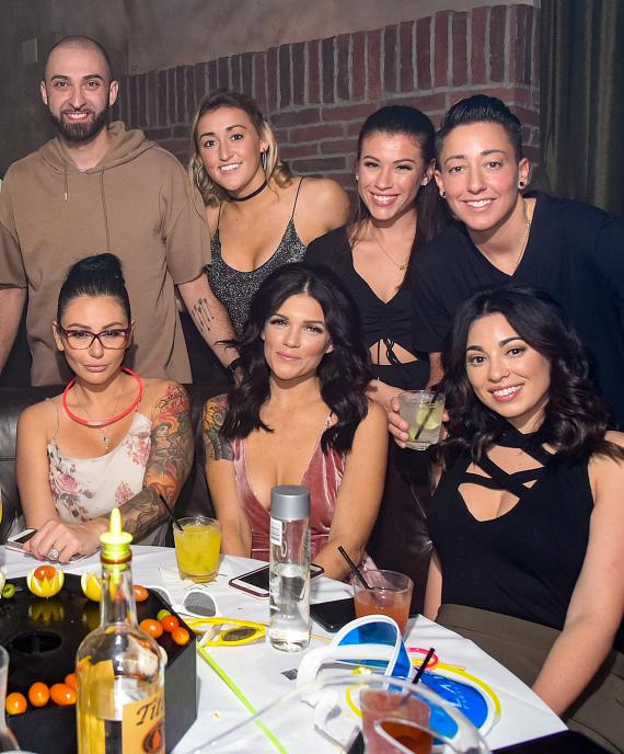 Jwoww at LAVO Brunch with friends