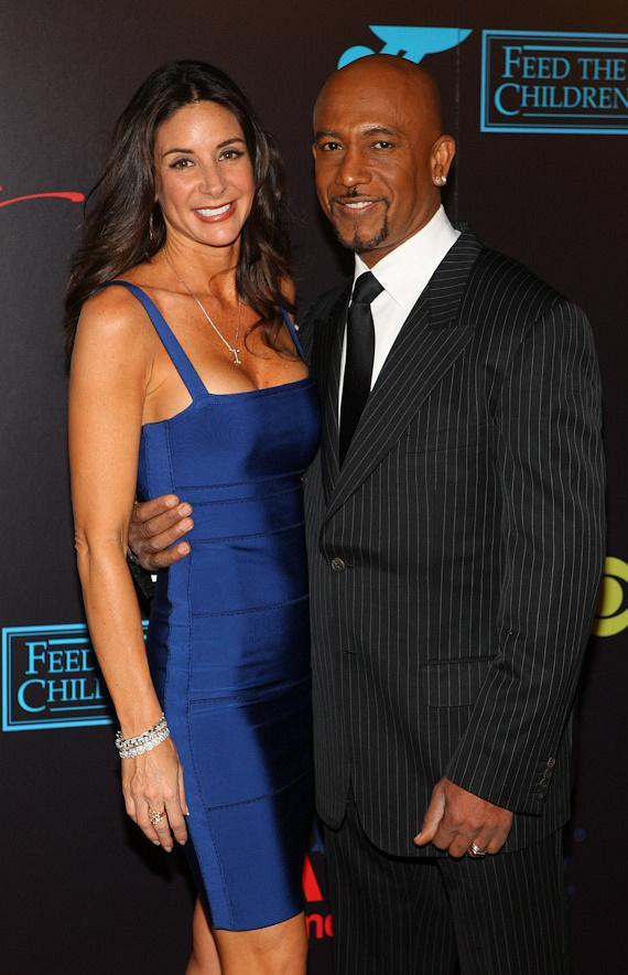 Montel Williams and his wife