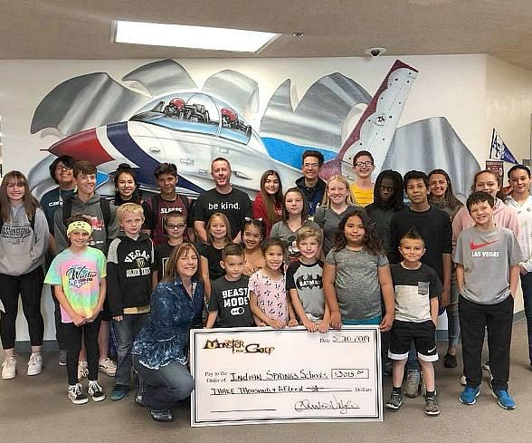 """Monster Mini Golf Donates $6k to Las Vegas Schools as Part of Its Nationwide """"Share a Pair to Support Public Education"""" Campaign"""