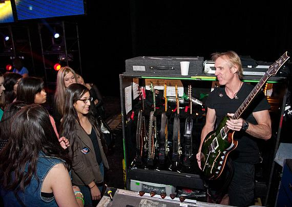 Journey and Hard Rock Hotel Entertain K.O. Knudson Middle School Students Behind-the-Scenes at The Joint