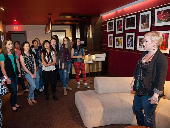 KO Knudson students in dressing rooms at The Joint