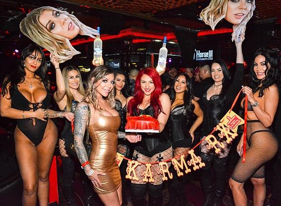 Adult Film Star Karma Rx Hosts Birthday Party at Crazy Horse 3 in Las Vegas