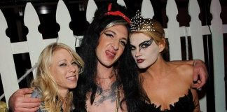 Katie Morgan, Mickey Avalon and Sierra Young at LAVO