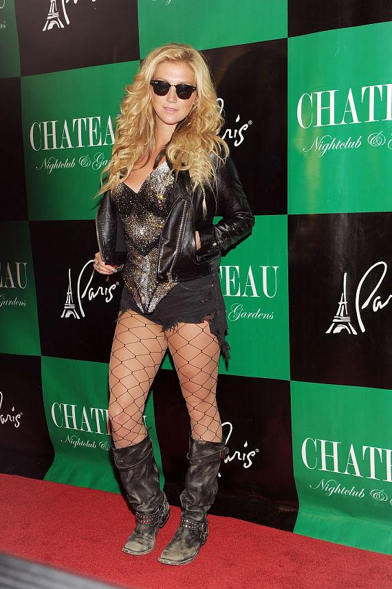 "Ke$ha on the red carpet at Chateau Nightclub & Gardens for her official ""Get Sleazy"" tour after party performance"