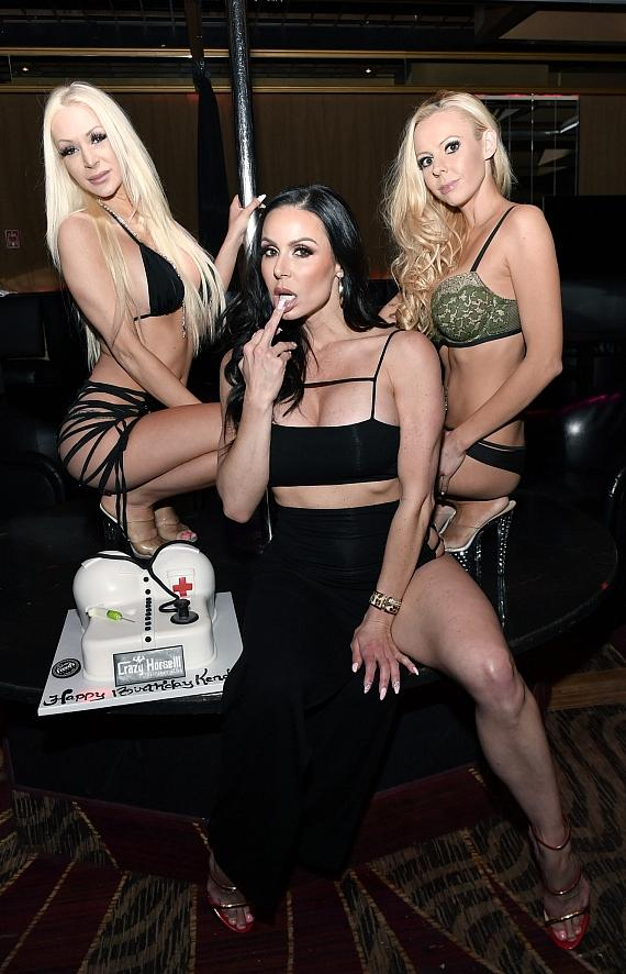 Kendra Lust with Birthday Cake and Crazy Horse 3 Entertainers