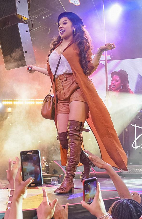 Keyshia Cole Joins Trey Songz on Drai's LIVE Stage atop The Cromwell in Las Vegas