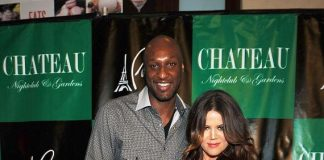 Khloé Kardashian Odom and Lamar Odom on the red carpet at Chateau Nightclub & Gardens