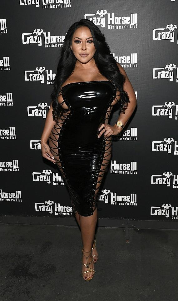 Kiara Mia on Crazy Horse 3 Red Carpet