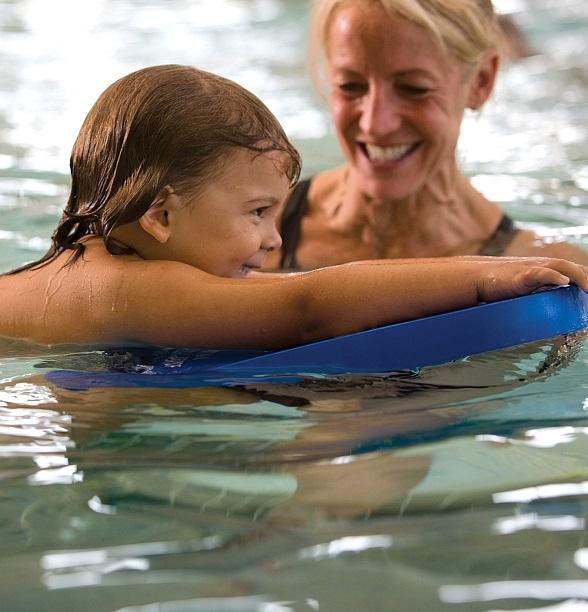 Kickboard Lesson at Life Time Athletic