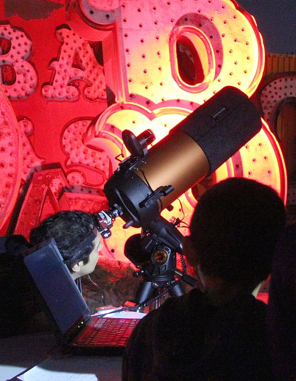 Stars and Stardust: Sidewalk Astronomy in the Neon Boneyard to Take Place Jan. 27