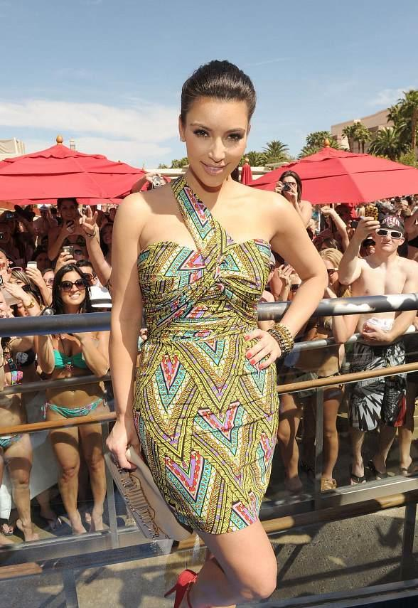 Kim Kardashian and Lance Bass at grand opening of WET REPUBLIC