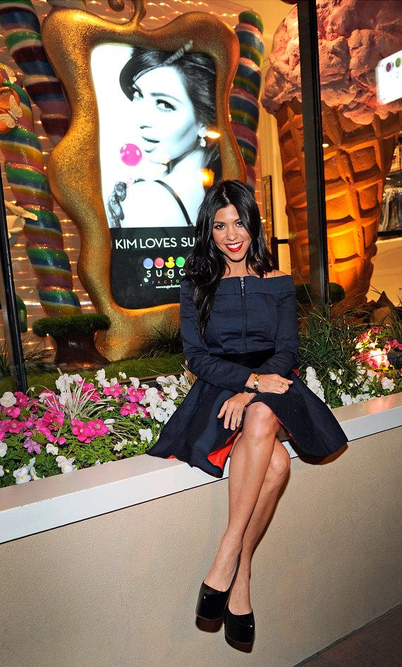 Kourtney Kardashian at Sugar Factory at Paris Las Vegas