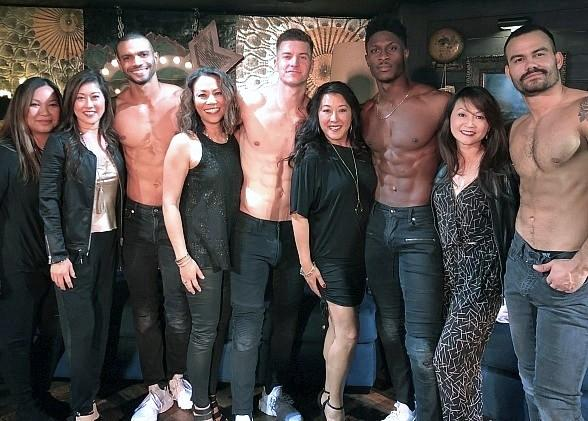 Olympic Gold Medalist Kristi Yamaguchi Attends Magic Mike Live at the Hard Rock Hotel & Casino