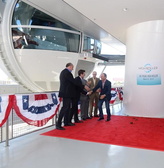 VIP guests on the High Roller red carpet