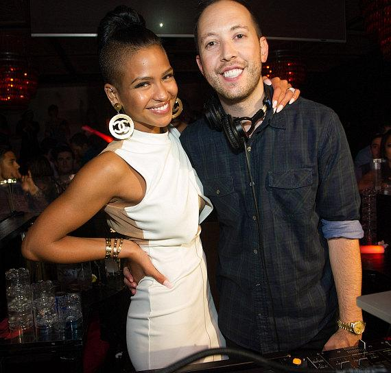 Cassie and DJ Reflex at LAVO