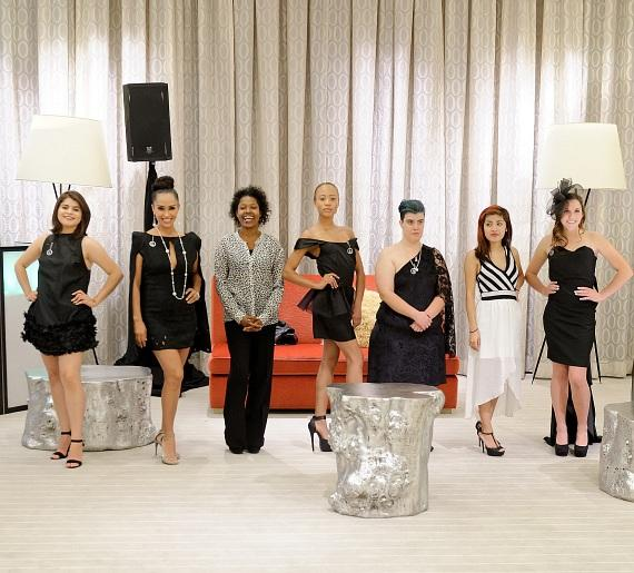 Little Black Dress fashion students and their designs